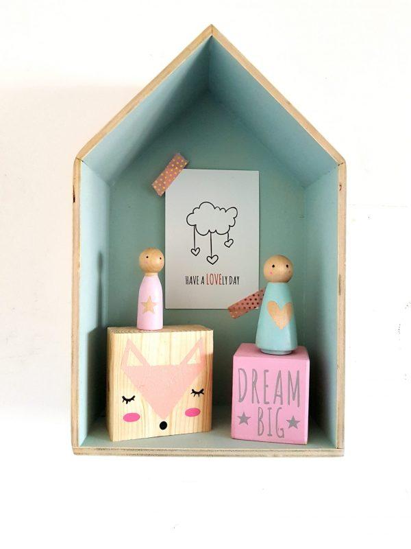 בלוק עץ מאוייר - לחלום בגדול