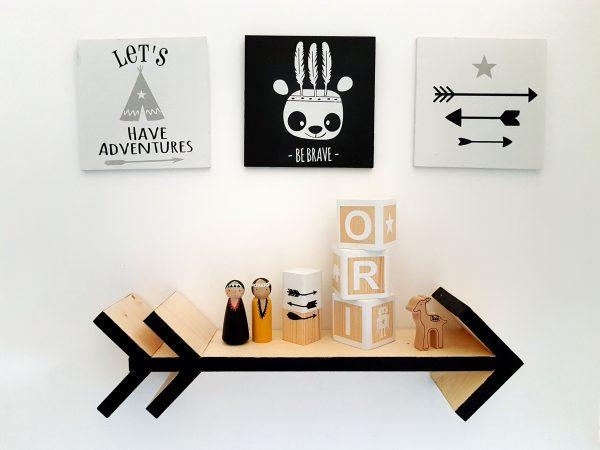 """lets have adventures"" תמונת קיר מאוירת"