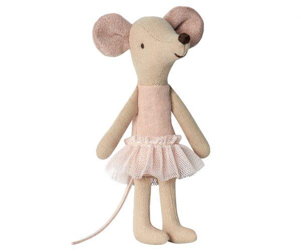 עכברת בלרינה עם מזוודת פח