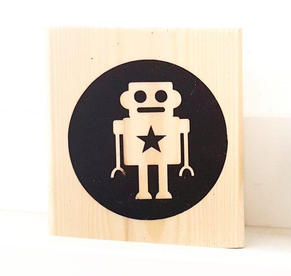 בלוק עץ Cool Robot