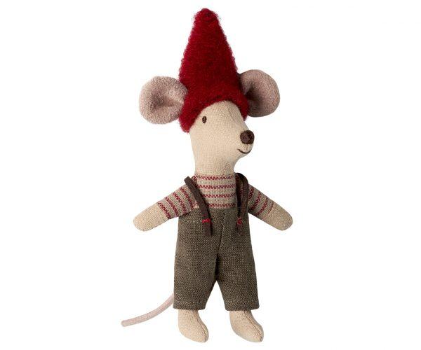 עכבר מטייל עם מזוודת פח
