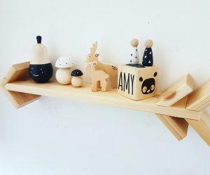 סט פיטריות לעיצוב מעץ מלא