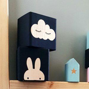 סט בלוקי עץ cloud & bunny