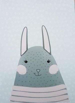 """פוסטר קטן 13x18 ס""""מ ארנב חייכן"""