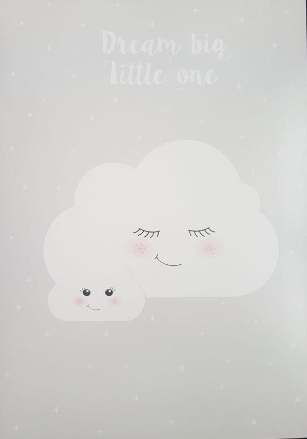 פוסטר A4 חלום בגדול - ענן
