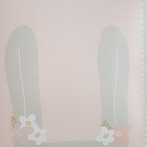 פוסטר A4 ארנב פרחים