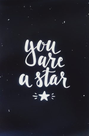 """גלויה 10x15 ס""""מ אתה כוכב"""