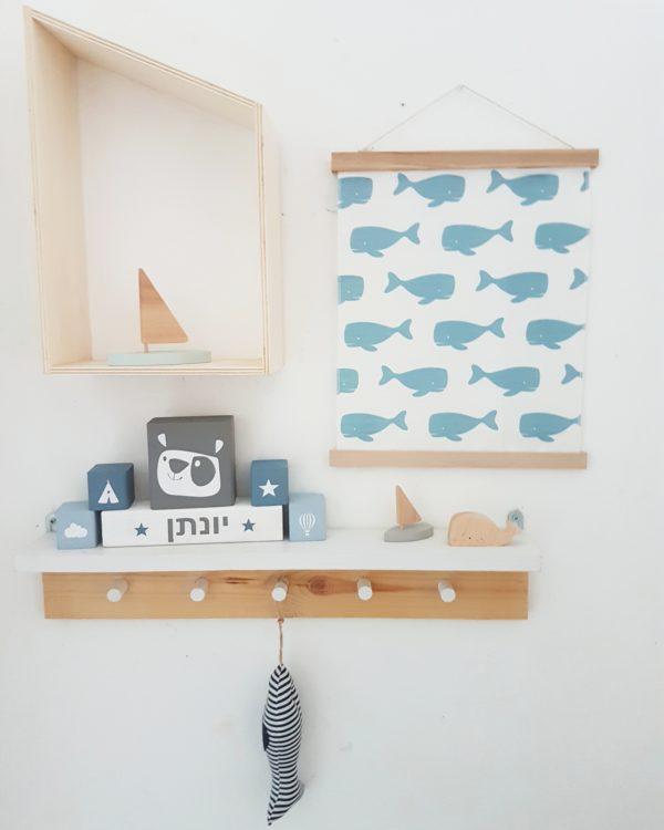 תמונת ליוויתנים כחולים מכותנה