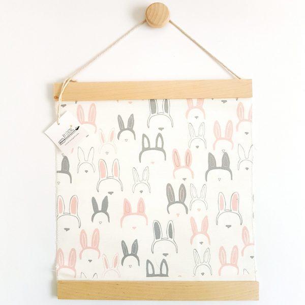 תמונת ארנבונים מכותנה