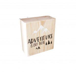 בלוק עץ מאוייר - הזמנה להרפתקה