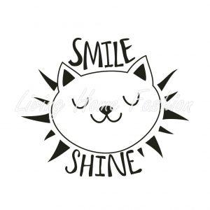 גלוית חתול עם חיוך זוהר