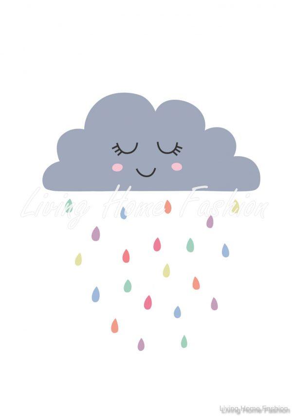 פוסטר A4 גשם ציבעוני