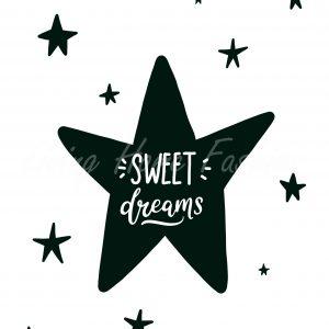 פוסטר A5 כוכב חלומות מתוקים