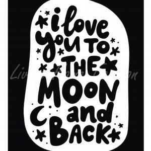 פוסטר A5 אהבה עד הירח