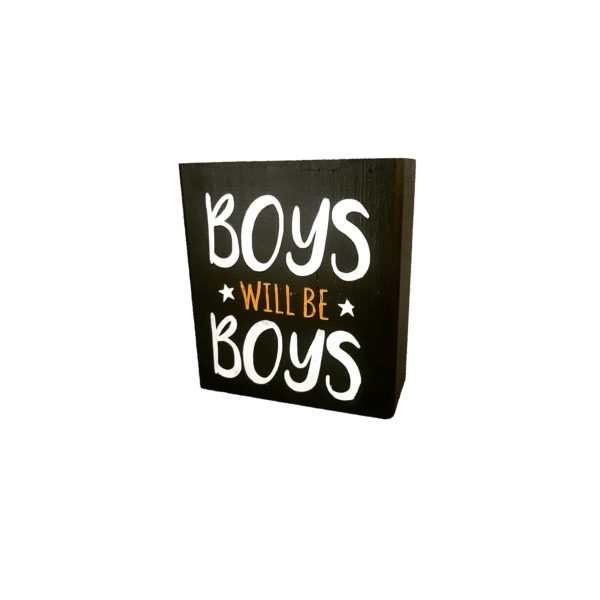 בלוקי עץ מאויירים Boys will be boys