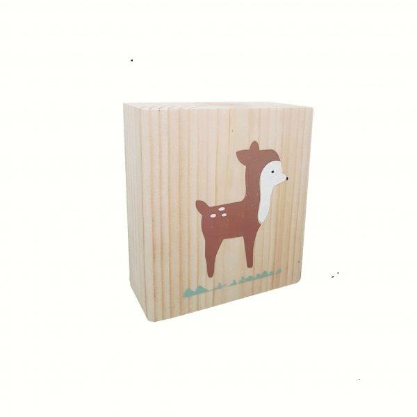 בלוק עץ מאוייר - במבי בסגנון קלאסי