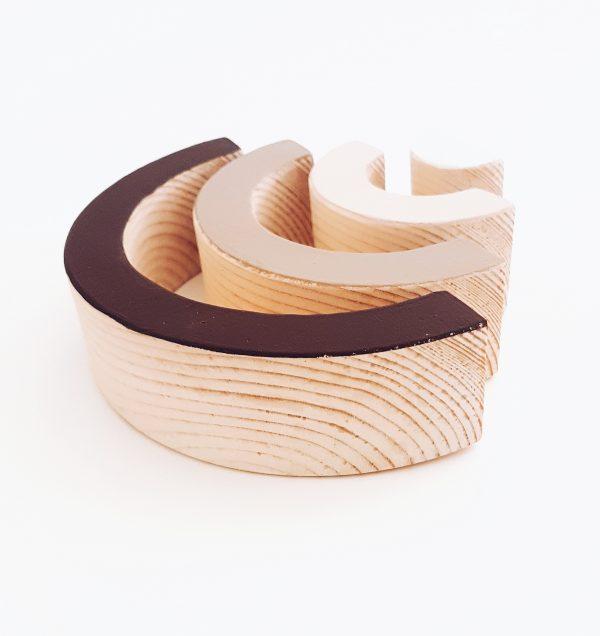 קשת צבעונית תלת מימדית רחבה עץ אורן