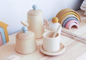 סט תה חמוד מעץ ליים
