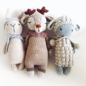 בובה סרוגה - כבשה חמודה