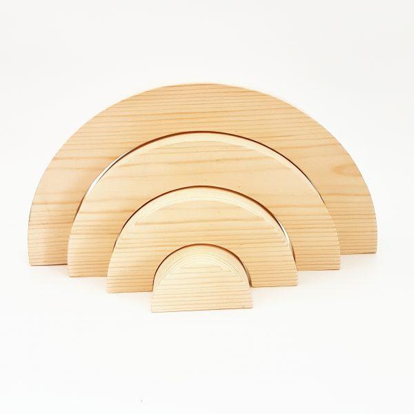 קשת תלת מימדית ענקית עץ אורן