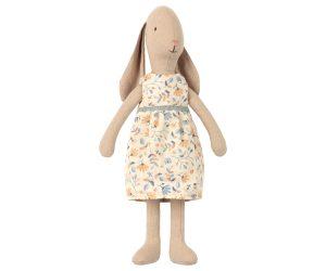 ארנבת ארוכת אוזניים עם שמלה פרחונית