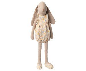 ארנבת עם חליפת פרחים אוברול - גודל 3
