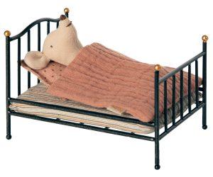 מיטת וינטג' לעכבר - אפור פחם