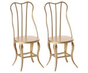 סט שני כסאות וינטאג', מיקרו - זהב