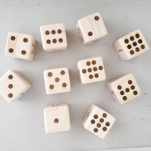 סט קוביות עץ ללימוד מספרים
