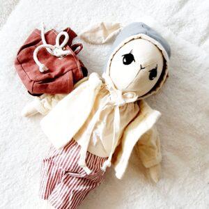 בובת ארנב עם תיק גב - Qubashi