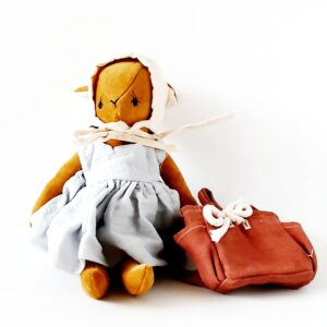 בובת במבי מקטיפה עם תיק גב - Qubashi