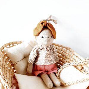בובת ארנבונית עם חולצה מנוקדת - Qubashi