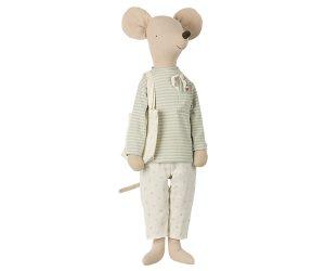 מגה עכבר בבגדי לילה עם סט מברשות שיניים - מנטה