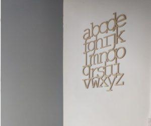 עיטור קיר - אותיות אנגלית מעץ MineWood