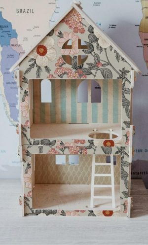 בית בובות קומותיים מודולרי לעיצוב החדר - גינת פרחים