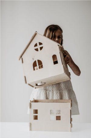 בית בובות קומותיים מודולרי לעיצוב החדר - כפרי
