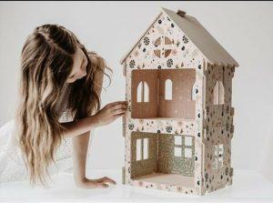 בית בובות קומותיים מודולרי לעיצוב החדר - פרחים עדינים