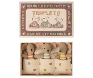 שלישיית עכברונים בקופסת גפרורים