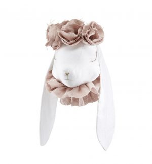 ארנבונית חמודה עם פרחים לתליה - ורוד